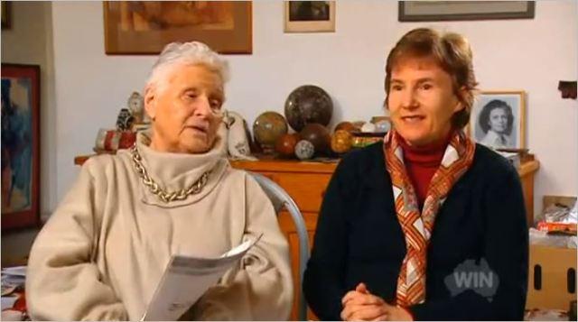 Viera Scheibner belittles Bronwyn Hancock (left).