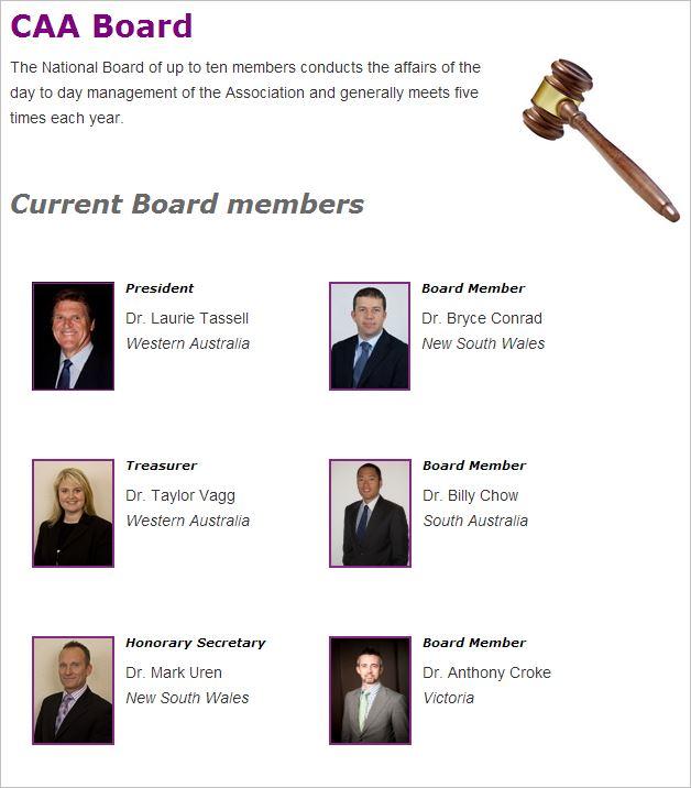 CAA National Board Tony Croke