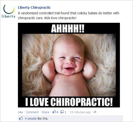 Croke RCT chiro on colicky kids do better