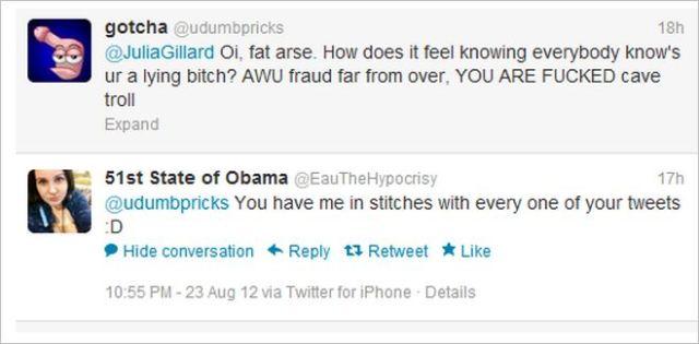 Hempel Gillard lying bitch FUCKED tweets