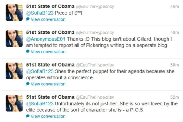 Hempel Gillard piece of shit tweet