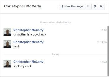 McCarty 1 PMs mother good fuck suck my sock