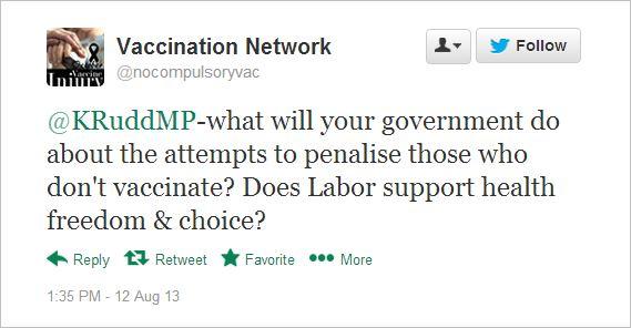 AVN 6516 Dorey tweet to PM
