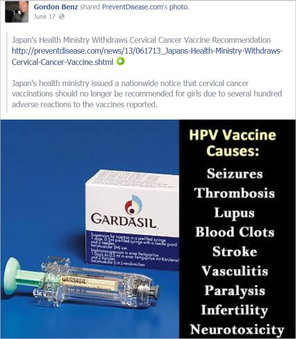 Benz 2 preventdisease HPV Japan