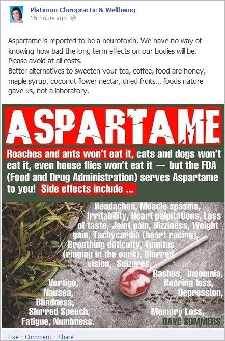 Bird 3 aspartame