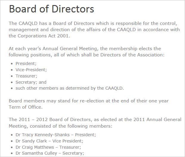 Clark 1 past VP of CAA QLD
