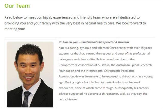 Complete health chiro Jom profile