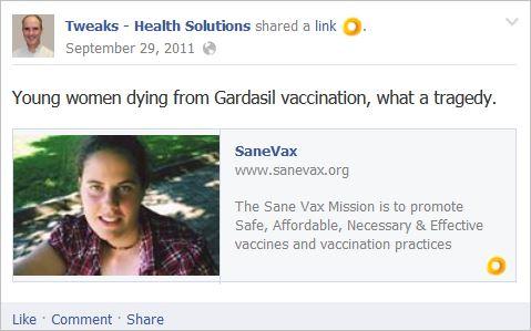 King 1 sanevax Gardasil deaths