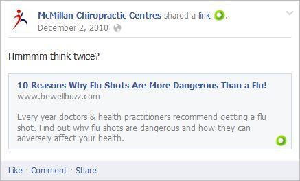 Long 1 flu shot more dangerous than flu