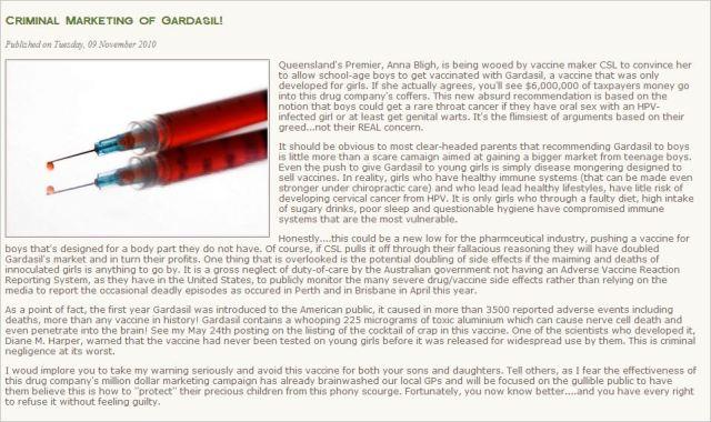 Mechler 5 criminal marketing of Gardasil