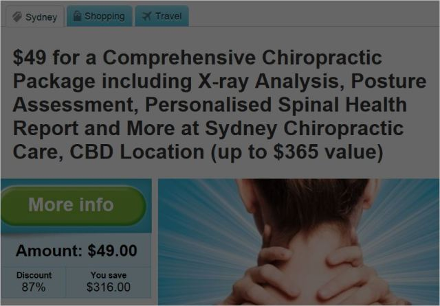Sydney chiro 6 Groupon inducements