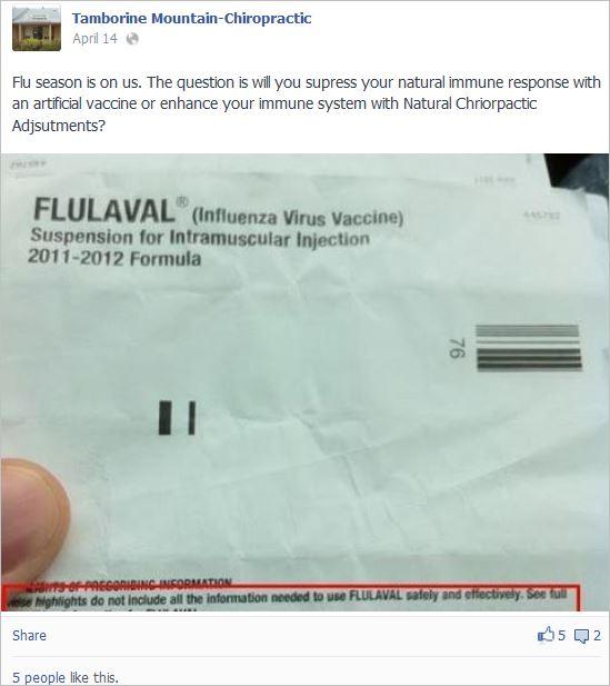 Tamb 3 flu vax will suppress natural immune response