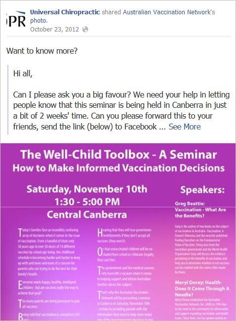 Knight 2 AVN Canberra seminar