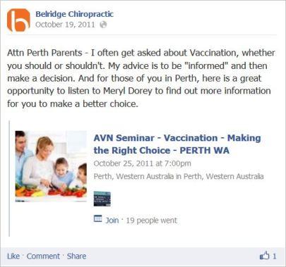 Tham 3 AVN Perth seminar
