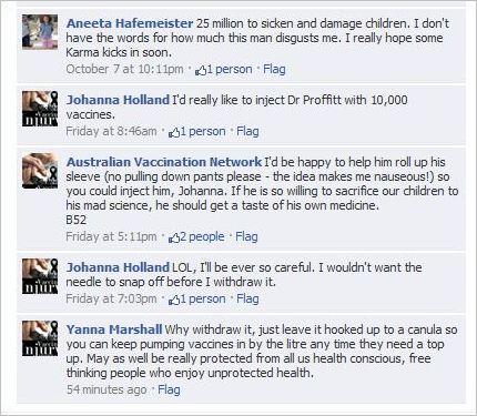 Health Service Provider, the Australian Vaccination Network.