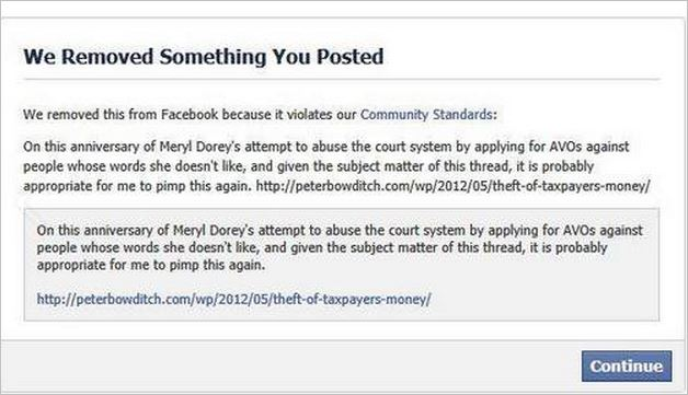 AVN 6690 Dorey banned comment September 2013