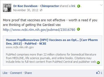 Davidson 13 vaccines Gardasil not effective Tomljenovic Shaw paper