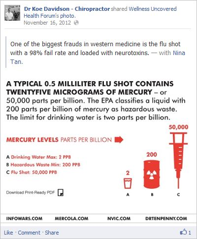 Davidson 16 flu shot 98% fail rate loded with neurotoxins