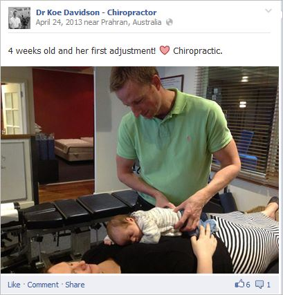 Davidson 8 adjusting 4 week old baby