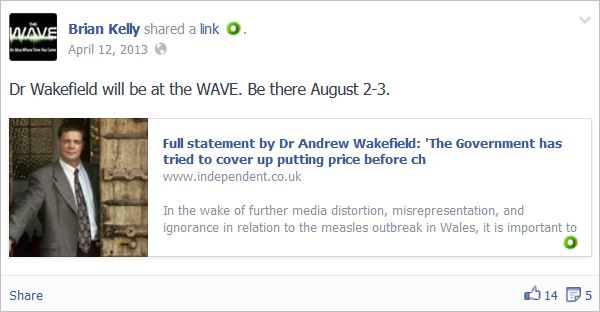 Kelly 2 promoting Wakefield