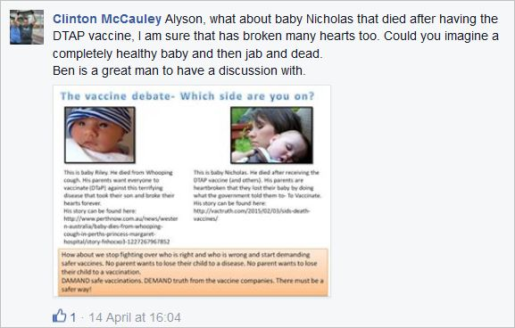 McCauley 1 Riley juxtaposed with another dead baby