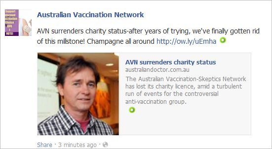 AVN 6750 Aus Doc surrendered charity status