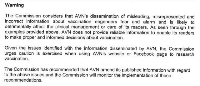 AVN HCCC Warning March 2014