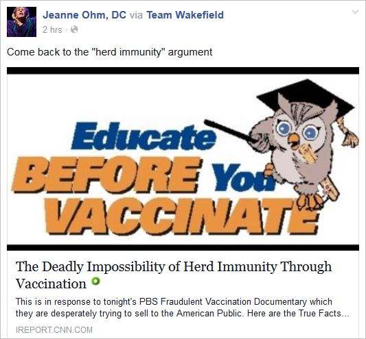 Ohm 25 via Team Wakefield deadly impossibility of herd immunity