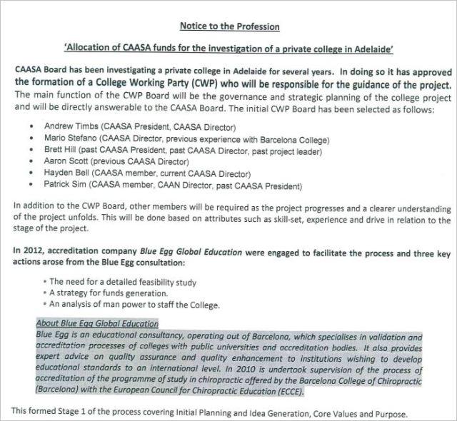 CAA SA 7 letter college