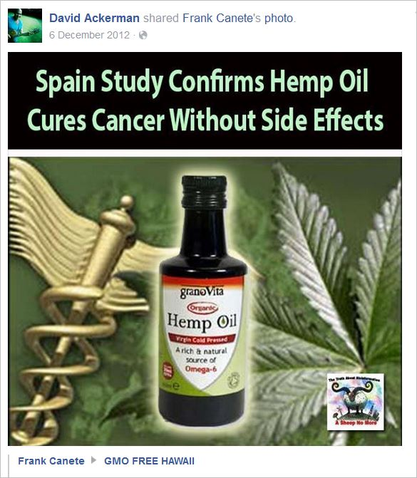 Ackerman 10 hemp oil cures cancer