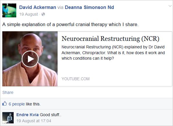 Ackerman 4 NET neurocranial video
