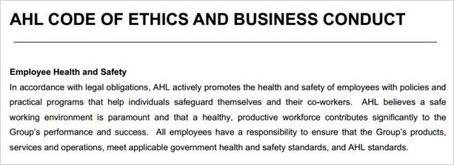 Rydges 4 AHL workplace health governemnt standards
