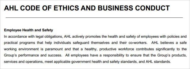 Rydges 4 AHL workplace health governemnt standards