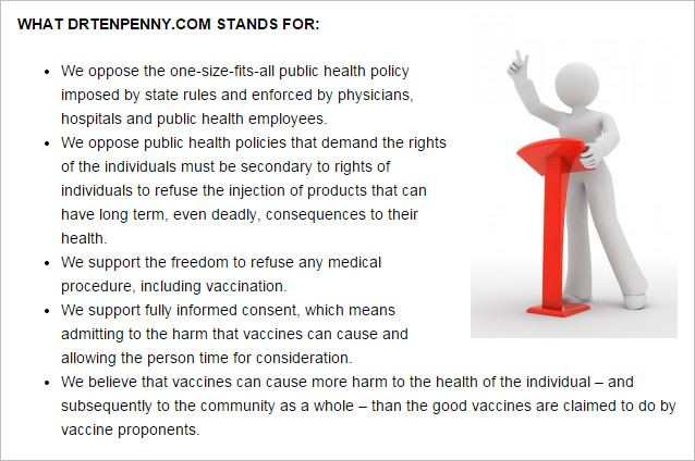 Tenpenny 52 vaccines cause more harm than good website about