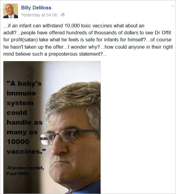 DeMoss 258 Dr Paul Offit satan