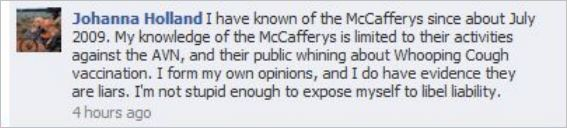 Holland 37 McCafferys liars