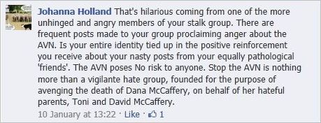 Holland 88 AVN McCafferys hateful parents avenging Dana's death