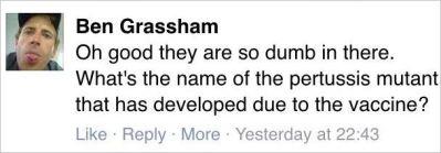 Riley 207 Ben Grassham VFA comment stupid