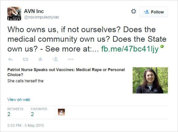 AVN 6996 medical rape tweet