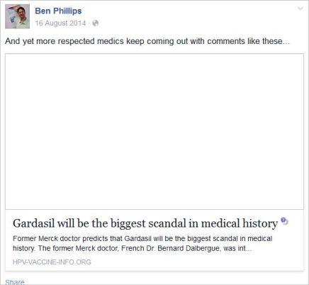 Phillips 10 Gardasil