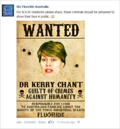 NFA 9 Kerry Chant wanted poster
