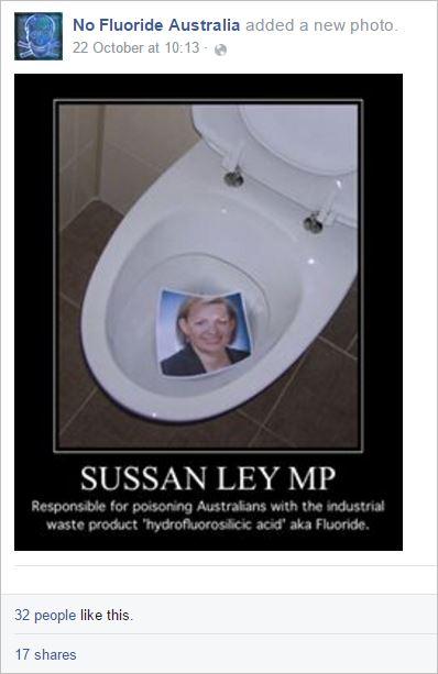 NFA 98 Sussan Ley poison toilet