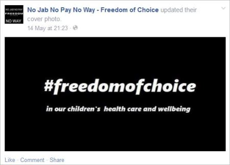 Protest 17 freedom of choice