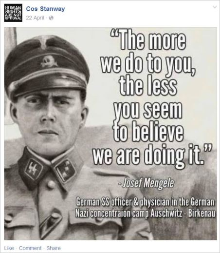 Stanway 8 Mengele