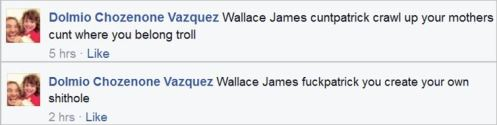 Vazquez 92 Wallace shithole mother's cunthole