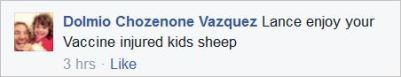 Vazquez 93 vaccine injured kids Sydney protest
