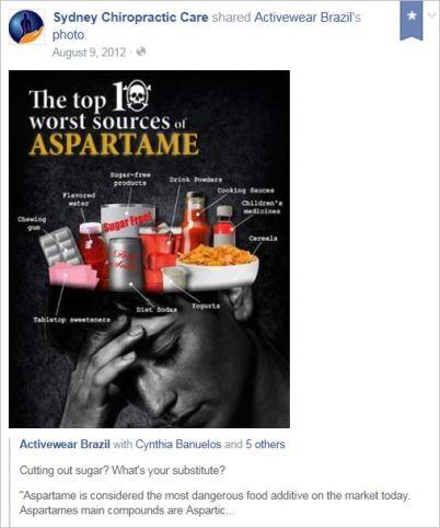Brooks 31 aspartame