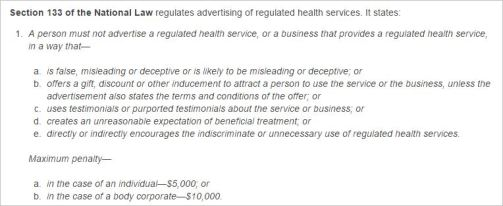 CBA 4 National Law advertising guidlines