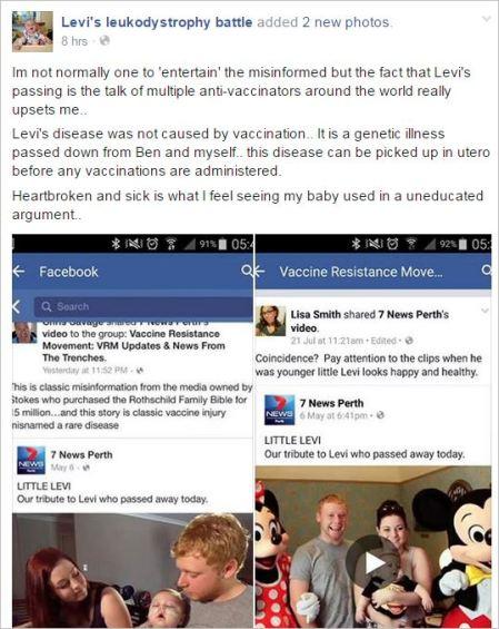 Levi 1 message regarding VRM Savage posts