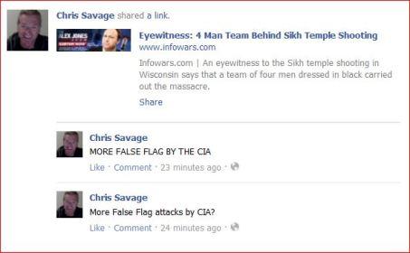Savage 1 false flag shootings